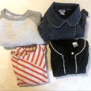 LOT Size 5 Girl's Jacket Shirt Dress Sweatshirt